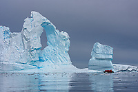 "Incredible ice formations in the ""iceberg graveyard"" at Port Charcot in the Wilhelm Archipelago of Antarctica."