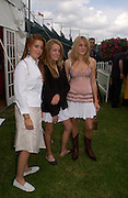 Princess Beatrice, Eliza Pearson and Emily Pearson on left, Veuve Clicquot gold Cup, Polo at cowdray, 18 July 2004. SUPPLIED FOR ONE-TIME USE ONLY> DO NOT ARCHIVE. © Copyright Photograph by Dafydd Jones 66 Stockwell Park Rd. London SW9 0DA Tel 020 7733 0108 www.dafjones.com