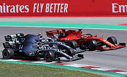 May 12, 2019 - Barcelona, Catalonia, Spain - Ferrari of Sebastian Vettel and Mercedes of Lewis Hamilton and Valtteri Bottas during the GP Spain Formula 1, on 12th May 2019, Barcelona, Spain. (Credit Image: © Joan Valls/NurPhoto via ZUMA Press)