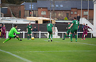 Bobby Linn hits home to put Arbroath 2-1 ahead - Arbroath v Stirling University FC, William Hill Scottish Cup Second Round at Gayfield, Arbroath. Photo: David Young<br /> <br />  - &copy; David Young - www.davidyoungphoto.co.uk - email: davidyoungphoto@gmail.com