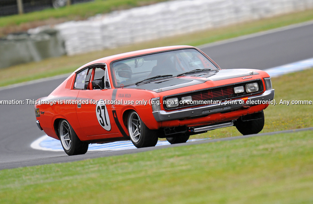 Craig Miles - Chrysler Valiant Charger R/T.Historic Motorsport Racing - Phillip Island Classic.18th March 2011.Phillip Island Racetrack, Phillip Island, Victoria.(C) Joel Strickland Photographics.Use information: This image is intended for Editorial use only (e.g. news or commentary, print or electronic). Any commercial or promotional use requires additional clearance.