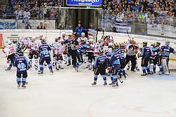 27.04.2014, Saturn Arena, Ingolstadt, GER, DEL, ERC Ingolstadt vs Koelner Haie, Finale, Best of seven Serie, 6. Spiel, im Bild Massenschlaegerei nach dem Spiel // during the DEL Icehockey League Playoff final 6th match of a best of seven serie between ERC Ingolstadt and Koelner Haie at the Saturn Arena in Ingolstadt, Germany on 2014/04/27. EXPA Pictures © 2014, PhotoCredit: EXPA/ Eibner-Pressefoto/ Schreyer<br /> <br /> *****ATTENTION - OUT of GER*****