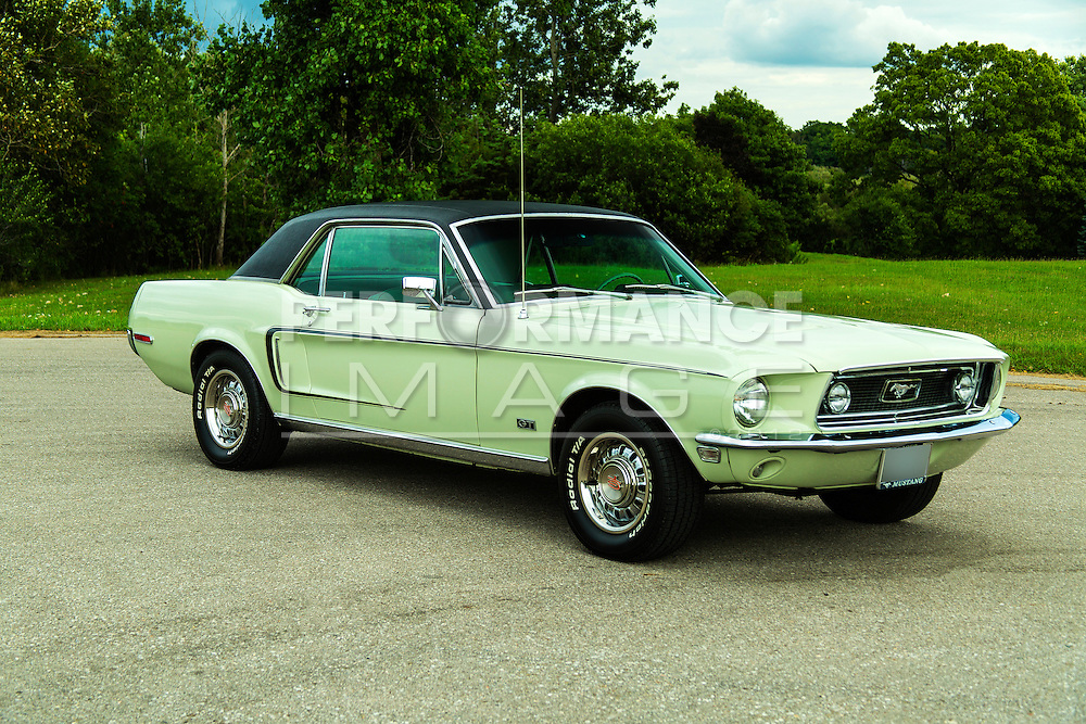 1968 Ford Mustang GT on pavement