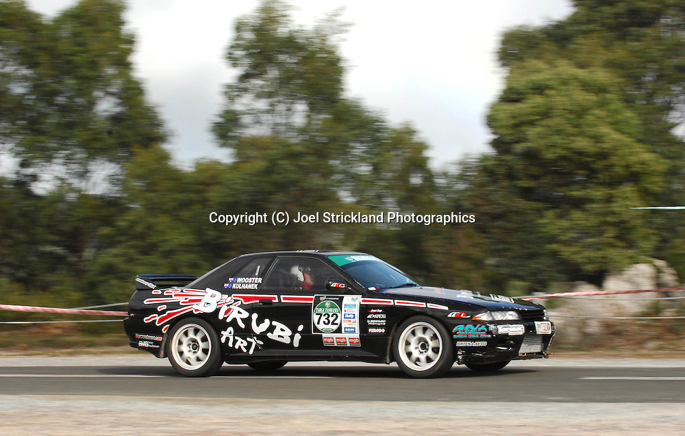 Ben Wooster & Tim Kulhanek .1990 Nissan Skyline GTS-t.Day 4.Targa Tasmania 2009.2nd of May 2009.(C) Joel Strickland Photographics.