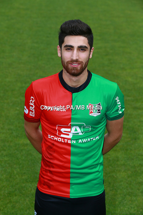 Alireza Jahanbakhsh during the team presentation of NEC Nijmegen on July 08, 2015 at the Goffert stadium in Nijmegen, The Netherlands