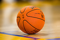 31 October 2006: The new Spalding NBA official basketball sits on the court during a timeout  during the second half of the Los Angeles Lakers 114-106 victory over the Phoenix Suns at the STAPLES Center in Los Angeles, CA.<br />