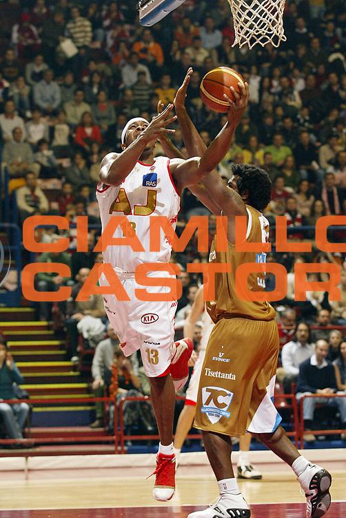 DESCRIZIONE : Milano Lega A1 2006-07 Armani Jeans Milano Tisettanta Cantu<br /> GIOCATORE : Watson<br /> SQUADRA : Armani Jeans Milano<br /> EVENTO : Campionato Lega A1 2006-2007 <br /> GARA : Armani Jeans Milano Tisettanta Cantu <br /> DATA : 26/11/2006 <br /> CATEGORIA : Tiro<br /> SPORT : Pallacanestro <br /> AUTORE : Agenzia Ciamillo-Castoria/G.Cottini<br /> Galleria : Lega Basket A1 2006-2007 <br /> Fotonotizia : Milano Campionato Italiano Lega A1 2006-2007 Armani Jeans Milano Tisettanta Cantu<br /> Predefinita :