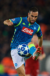 LIVERPOOL, ENGLAND - Tuesday, December 11, 2018: Napoli's Nikola Maksimović during the UEFA Champions League Group C match between Liverpool FC and SSC Napoli at Anfield. (Pic by David Rawcliffe/Propaganda)