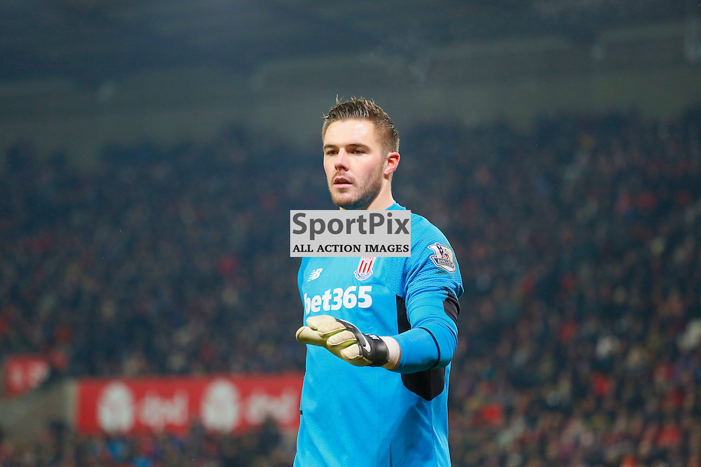 Jack Butland was on fine form during Stoke City v Arsenal, Barclays Premier League, Sunday 17th January 2016, Britannia Stadium, Stoke