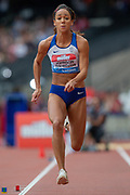 Katerina Johnson-Thompson, Great Britain, Women's Long Jump, during the Muller Anniversary Games 2019 at the London Stadium, London, England on 21 July 2019.