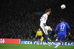09.03.2016, Stamford Bridge, London, ENG, UEFA CL, FC Chelsea vs Paris Saint Germain, Achtelfinale, Rueckspiel, im Bild rabiot adrien, pedro rodriguez // during the UEFA Champions League Round of 16, 2nd Leg match between FC Chelsea vs Paris Saint Germain at the Stamford Bridge in London, Great Britain on 2016/03/09. EXPA Pictures © 2016, PhotoCredit: EXPA/ Pressesports/ LAHALLE PIERRE<br /> <br /> *****ATTENTION - for AUT, SLO, CRO, SRB, BIH, MAZ, POL only*****