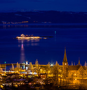 Picture has been taken in a beautiful cal night from Utskten in Trondheim!