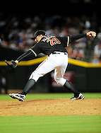 Aug. 6 2011; Phoenix, AZ, USA; Arizona Diamondbacks pitcher Brad Ziegler (29) delivers a pitch against the Los Angeles Dodgers at Chase Field. The Dodgers defeated the Diamondbacks 5-3. Mandatory Credit: Jennifer Stewart-US PRESSWIRE