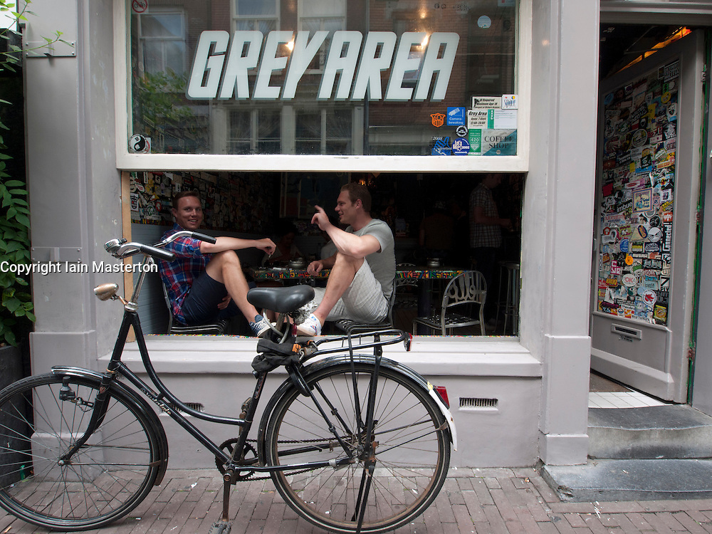 Coffeeshop called Grey Area in Grachtengordel district of Amsterdam The Netherlands
