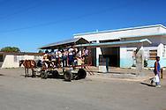 Horse and wagon in San Luis, Pinar del Rio, Cuba.