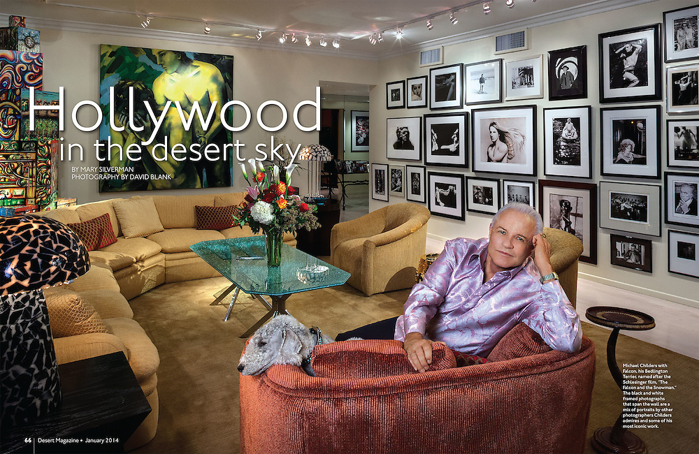 Desert Magazine feature article about Michael Childers celebrity photographer at his home in Rancho Mirage