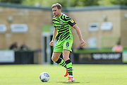 Forest Green Rovers Dayle Grubb(8) on the ball during the EFL Sky Bet League 2 match between Forest Green Rovers and Newport County at the New Lawn, Forest Green, United Kingdom on 31 August 2019.