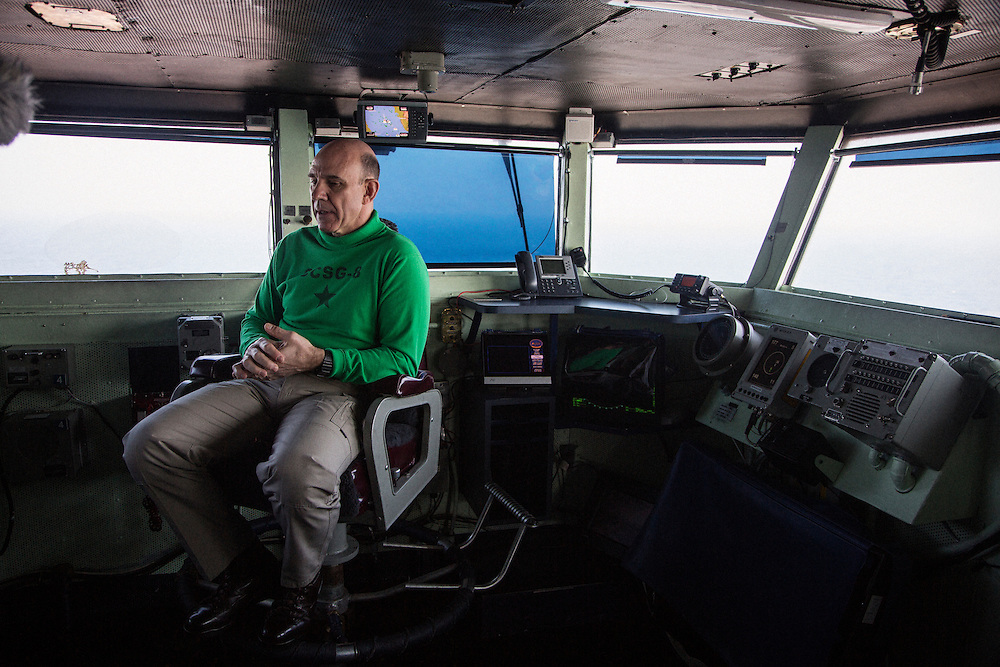 Rear Admiral Bret C. Batchelder, commander of the Carrier Strike Group<br /> <br /> Aboard the USS Harry S. Truman operating in the Persian Gulf. February 25, 2016.<br /> <br /> Matt Lutton / Boreal Collective for Mashable