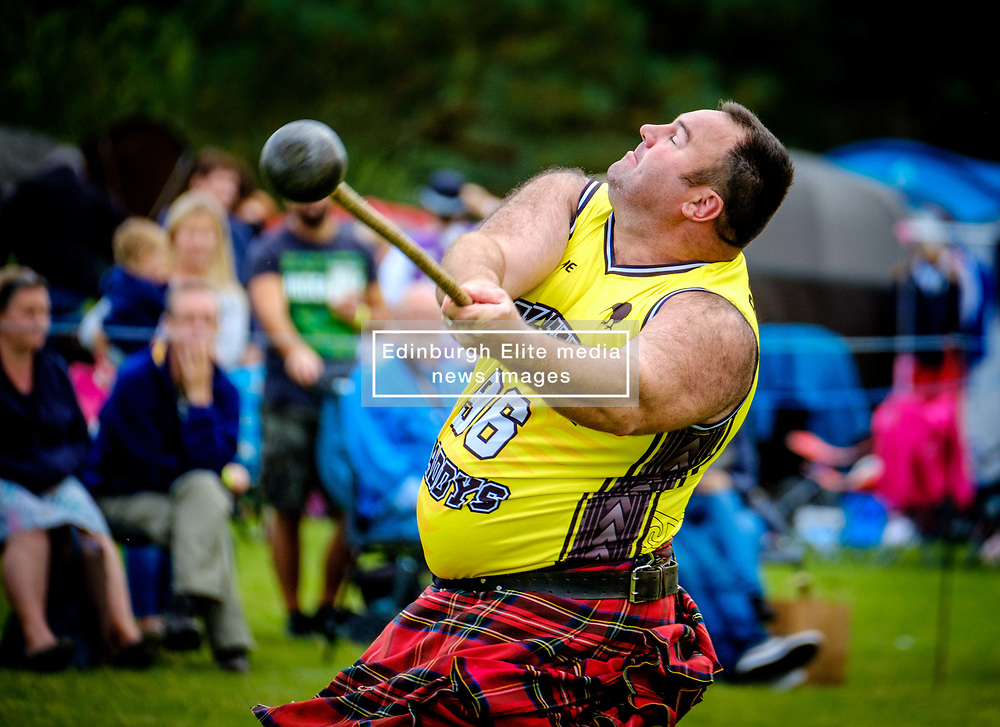 Peebles, Scotland UK 2nd September 2017. Peebles Highland Games, the biggest 'highland' games in the Scottish Borders took place in Peebles on September 2nd 2017 featuring pipe band contests, highland dancing competitions, haggis hurling, hammer throwing, stone throwing and other traditional events.<br /> <br /> (c) Andrew Wilson | Edinburgh Elite media