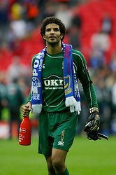LONDON, ENGLAND - Saturday, May 17, 2008: Portsmouth's goalkeeper David James during the FA Cup Final at Wembley Stadium. (Photo by Chris Ratcliffe/Propaganda)