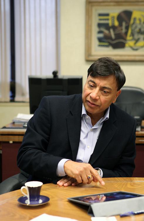 Lakshmi Mittal in his office, London, December 2012