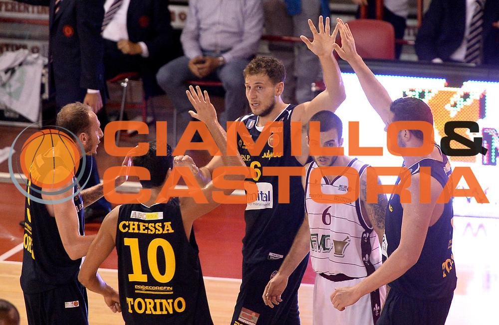 DESCRIZIONE : Ferentino LNP DNA Adecco Gold 2013-14 FMC Ferentino Manital Torino<br /> GIOCATORE : team torino<br /> CATEGORIA : esultanza<br /> SQUADRA : Manital Torino<br /> EVENTO : Campionato LNP DNA Adecco Gold 2013-14<br /> GARA : FMC Ferentino Manital Torino<br /> DATA : 06/10/2013<br /> SPORT : Pallacanestro<br /> AUTORE : Agenzia Ciamillo-Castoria/R.Morgano<br /> Galleria : LNP DNA Adecco Gold 2013-2014<br /> Fotonotizia : Ferentino LNP DNA Adecco Gold 2013-14 FMC Ferentino Manital Torino<br /> Predefinita :
