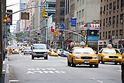 Yellow Taxi Cabs In Busy New York City