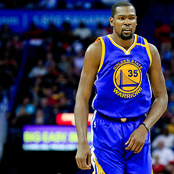 Oct 28, 2016; New Orleans, LA, USA;  Golden State Warriors forward Kevin Durant (35) against the New Orleans Pelicans during the second quarter of a game at the Smoothie King Center. Mandatory Credit: Derick E. Hingle-USA TODAY Sports