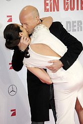 Bruce Willis with wife with wife Emma Heming attends a premiere for 'Die Hard - Ein Guter Tag Zum Sterben' at Hotel Adlon on February 5, 2013, Berlin, Germany. Photo by Imago / i-Images...UK ONLY