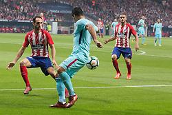October 14, 2017 - Madrid, Madrid, Spain - Juanfran (L) and Luis Suarez (C) (Credit Image: © Jorge Gonzalez/Pacific Press via ZUMA Wire)