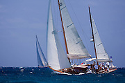 Veritas sailing in the 2010 Antigua Classic Yacht Regatta, Windward Race, day 4.