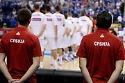 DESCRIZIONE : Berlino Berlin Eurobasket 2015 Group B Serbia Islanda <br /> GIOCATORE :  Serbia<br /> CATEGORIA : PreGame Inno Nazionale curiosità<br /> SQUADRA : Serbia<br /> EVENTO : Eurobasket 2015 Group B <br /> GARA : Serbia Islanda <br /> DATA : 08/09/2015 <br /> SPORT : Pallacanestro <br /> AUTORE : Agenzia Ciamillo-Castoria/I.Mancini <br /> Galleria : Eurobasket 2015 <br /> Fotonotizia : Berlino Berlin Eurobasket 2015 Group B Serbia Islanda