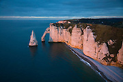 Cliffs on coast of Normandy at Etretat, Seine Maritime,  France