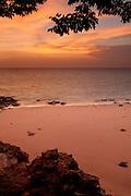 Sunrise at Isla Pacheca beach. Las Perlas Archipelago, Panama Province, Panama, Central America.