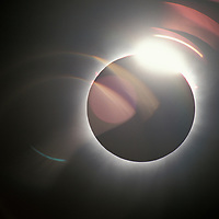 Africa, Zambia, Lukata, Total solar eclipse viewed from small village north of Lusaka on June 21, 2001.