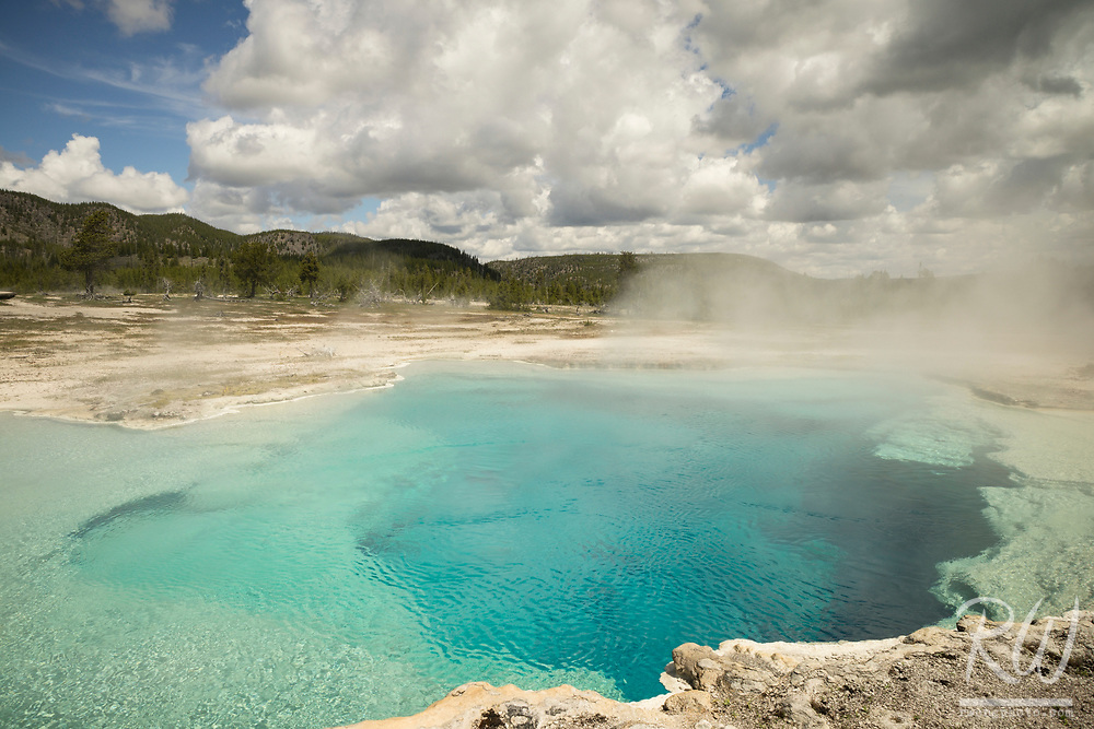 Sapphire Pool at Biscuit Basin, Yellowstone National Park, Wyoming