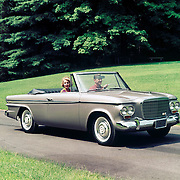 A 1963 Studebaker Lark Daytona Convertible is shown in this Studebaker publicity image.