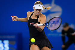 September 26, 2018 - Angelique Kerber of Germany in action during her third-round match at the 2018 Dongfeng Motor Wuhan Open WTA Premier 5 tennis tournament (Credit Image: © AFP7 via ZUMA Wire)