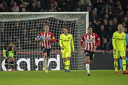 November 28, 2018 - Eindhoven, Netherlands - Luuk de Jong of PSV celebrates his scoring during the UEFA Champions League Group B match between PSV Eindhoven and FC Barcelona at Philips Stadium in Eindhoven, Netherlands on November 28, 2018  (Credit Image: © Andrew Surma/NurPhoto via ZUMA Press)