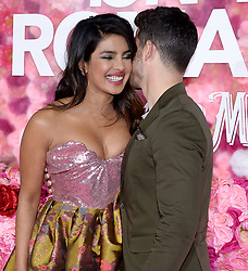 Celebrity arrivals at Isn't It Romantic premiere in Los Angeles - February 11, 2019. 11 Feb 2019 Pictured: Priyanka Chopra, Nick Jonas . Photo credit: TPI/MEGA TheMegaAgency.com +1 888 505 6342