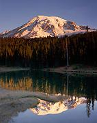 Mount Rainier 14,411ft (4,392m) from Reflection Lake, Mount Rainier National Park