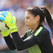 U.S. Women's National Team goalkeeper Hope Solo warming up before the U.S. Women's National Team Vs Korean Republic, International Soccer Friendly in preparation for the FIFA Women's World Cup Canada 2015. Red Bull Arena, Harrison, New Jersey. USA. 30th May 2015. Photo Tim Clayton