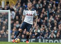 Football - 2016 / 2017 Premier League - Tottenham Hotspur vs. Stoke City<br /> <br /> Toby Alderweireld of Tottenham at White Hart Lane.<br /> <br /> COLORSPORT/DANIEL BEARHAM