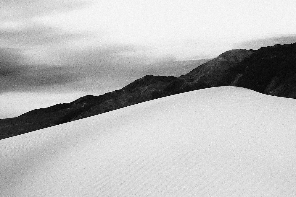 Mesquite Sand Dunes, Death Valley, CA.  Infrared image.