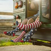 Stars & stripes. Lifestyle apparel shoot at Marina Beach, CA | Socksmith