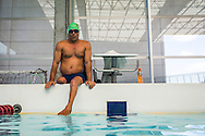 2016/06/04 &ndash; Bogotá, Colombia: Moises Fuentes Garcia, 41, sits on the border of the swimming pool, before the beginning of his training session at the Simon Bolivar Aquatic Complex, Bogotá, 4th June, 2016.<br />  -<br /> Moises used to be a farmer and sell cattle with his brother when in October 1992, Paramilitaries in the region of Santa Marta targeted them. Moises was shot six times, and his brother killed. He was &ldquo;lucky&rdquo; to survive, one of the bullets crossed his neck, and one stuck into his spine and he couldn&rsquo;t walk again. However it did not end there, a few months later, during a rehabilitation session he broke his leg and due to an infection he had to amputate it. Moises felt it wasn&rsquo;t worth living anymore. But after meeting a group of other victims that had even more severe injures, he grabbed life with will and began to feel motivated. He started playing wheelchair basketball and studying. In the process of the rehabilitation he was spotted as a good swimmer, even if he didn&rsquo;t possess any technique. After some success on the swimming pool, he became completely dedicated to the sport, while finishing degrees as a tailor, public accountant and hopes to graduate as a sport teacher next year. <br /> Among many achievements he won the Bronze medal in 2008 Paralympic Games in Beijing and Silver medal on the 2012 Paralympic Games in London on the 100 meters breaststroke category. He also became the World Champion at the 2013 World Swimming Championships. Moises hopes that in the Rio 2016 Paralympics, he will bring gold home. <br /> He believes that people must value their life, what they have and help people on the way. &ldquo;Everyone is a champion, but some people don&rsquo;t do the necessary to really became one&rdquo; he says. (Eduardo Leal)