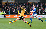 Cambridge No 8 Luke Berry stretches during the Sky Bet League 2 match between Cambridge United and Carlisle United at the R Costings Abbey Stadium, Cambridge, England on 16 April 2016. Photo by Nigel Cole.