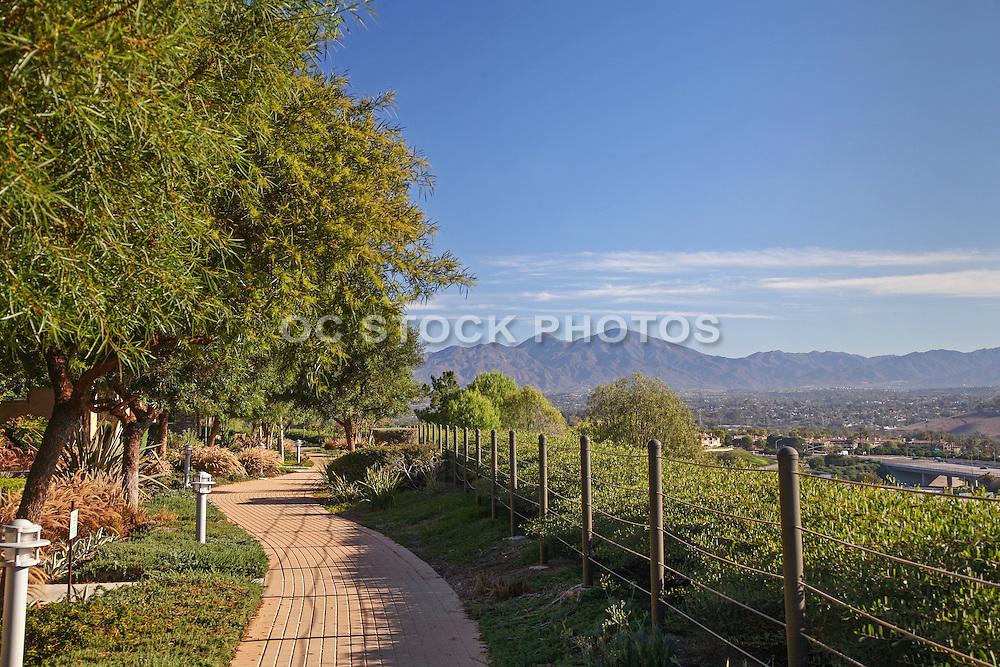 Aliso Viejo Walking Trail with a Saddleback View