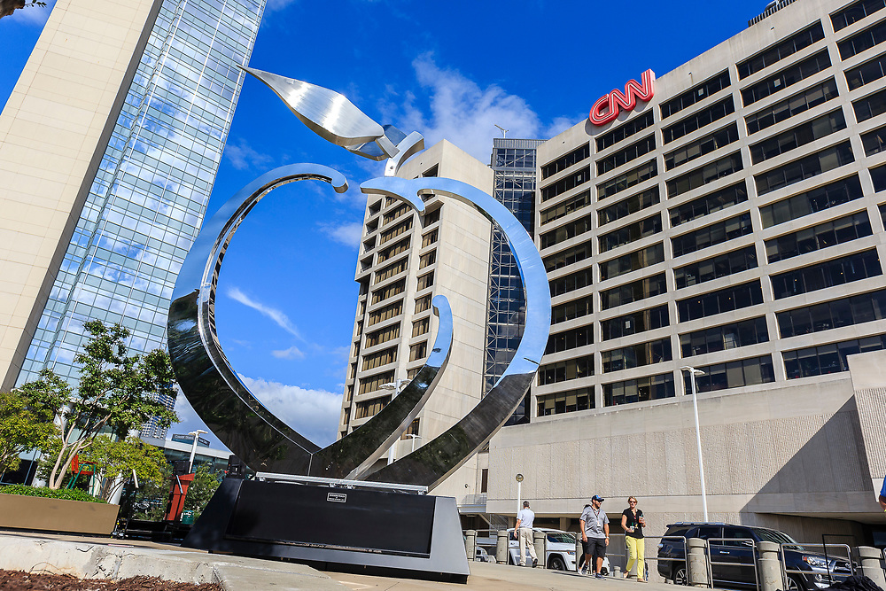 General images as the Chick-fil-A Peach Bowl's unveils a peach sculpture on Friday, September 1, 2017, in Atlanta. The peach commemorates The Bowl's 50th Anniversary (Paul Abell via Abell Images)