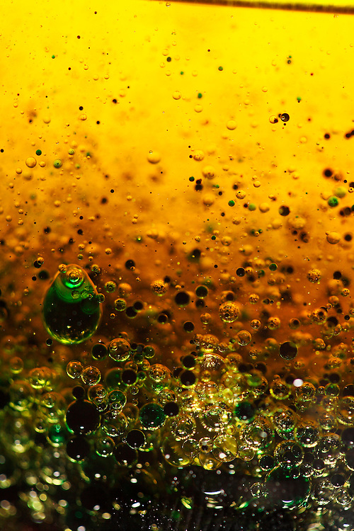 Abstract colors and bubbles